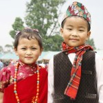01 Children in traditional dress in Nepal