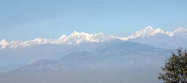 01 Panoramic Himalayas captured on photograph from Dhulikhel