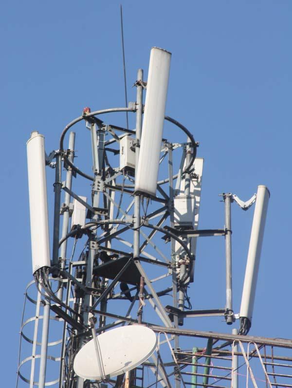 01 Telecom Tower on a roof of a house New Road Kathmandu Nepal