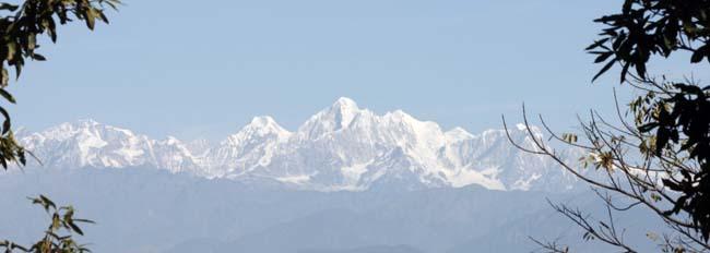 02 Panoramic Himalayas captured on photograph from Dhulikhel