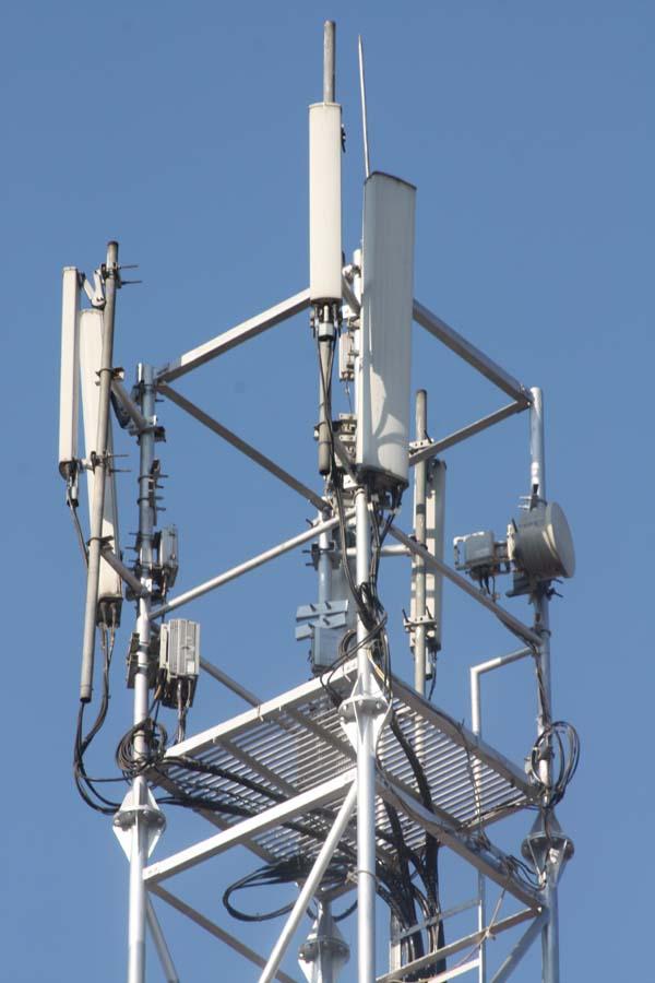02 Telecom Tower on a roof of a house New Road Kathmandu Nepal