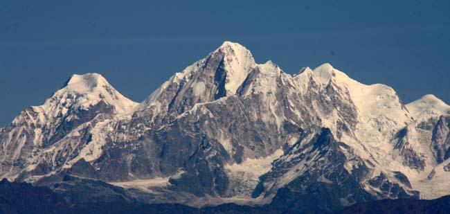 03 Panoramic Himalayas captured on photograph from Dhulikhel
