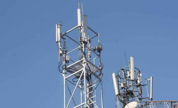 03 Telecom Tower on a roof of a house New Road Kathmandu Nepal