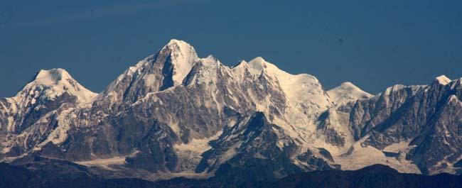 04 Panoramic Himalayas captured on photograph from Dhulikhel