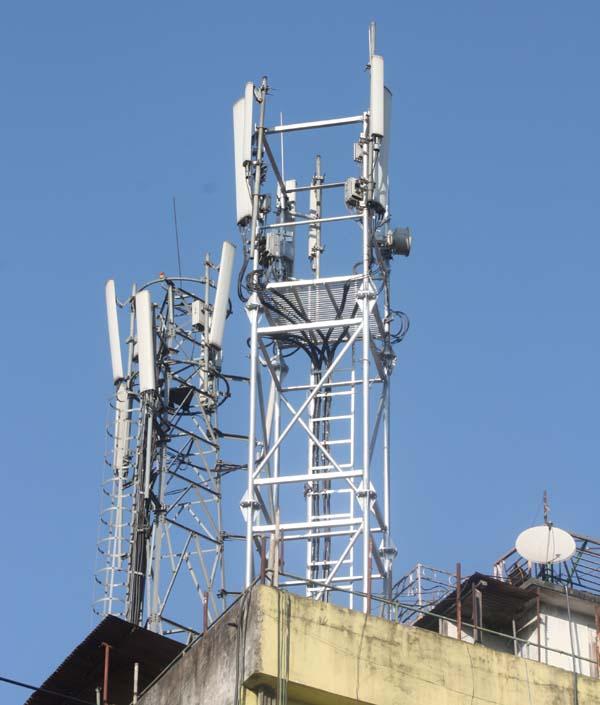 04 Telecom Tower on a roof of a house New Road Kathmandu Nepal