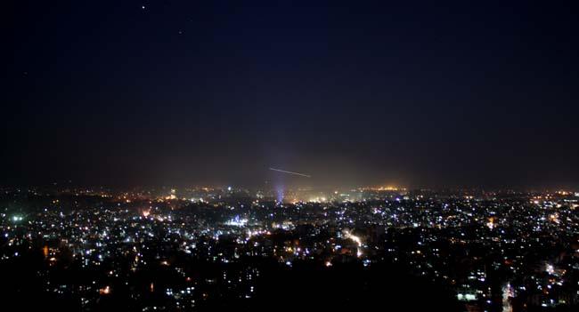 01 Night view of Kathmandu Valley from Swayambhunath