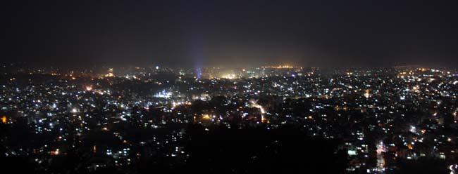 02 Night view of Kathmandu Valley from Swayambhunath