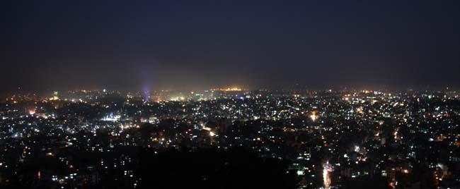 03 Night view of Kathmandu Valley from Swayambhunath