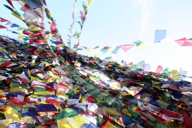 01 Buddhist prayer flags in Namobuddha, Kavre