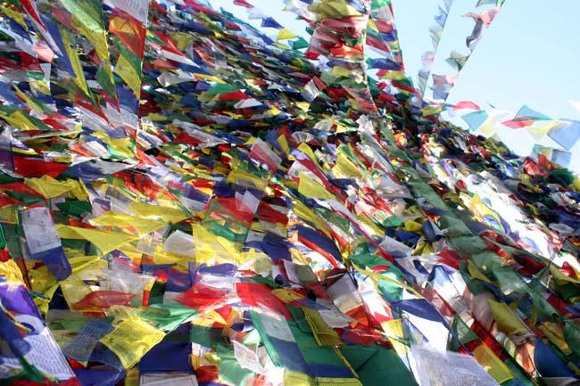 02 Buddhist prayer flags in Namobuddha, Kavre