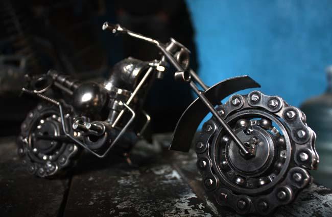 02 gewgaw motorbike made of parts of real motorbike in Nepal_Nepal Motorbike