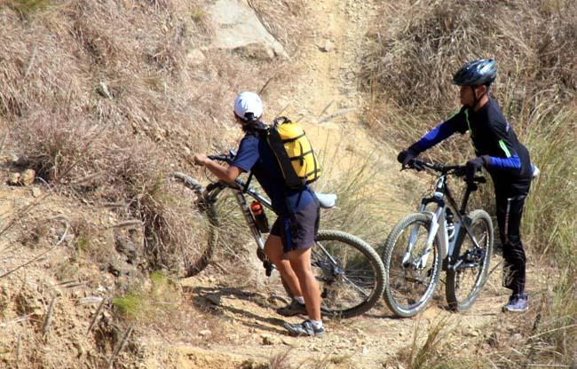 04 Biking in Chovar Kathmandu