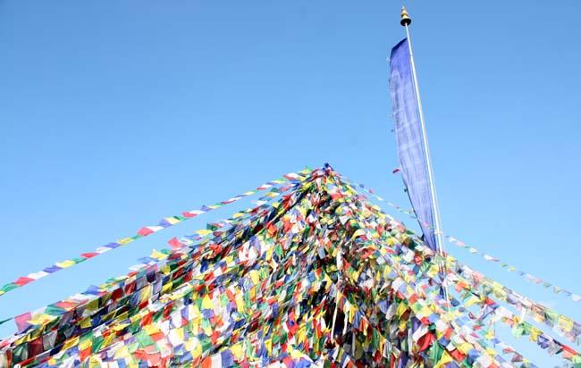 04 Buddhist prayer flags in Namobuddha, Kavre