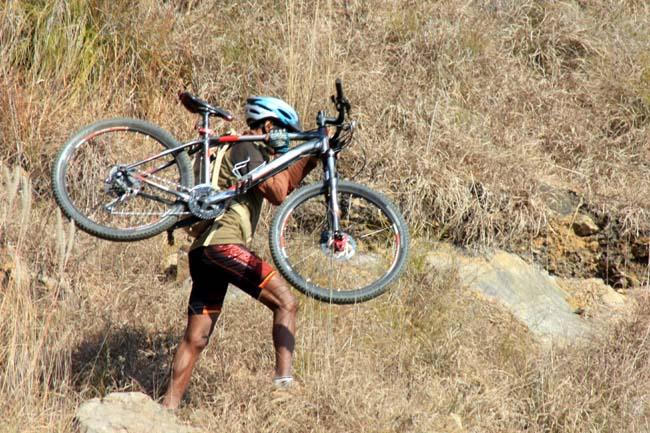 08 Biking in Chovar Kathmandu