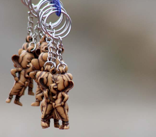03 Keyring with god Ganesh idol