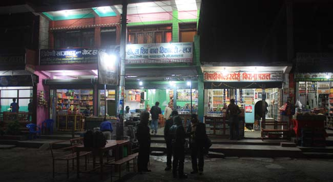 05 Night time in Mugling, Chitwan the city connects Kathmandu with Pokhara and other parts of Nepal