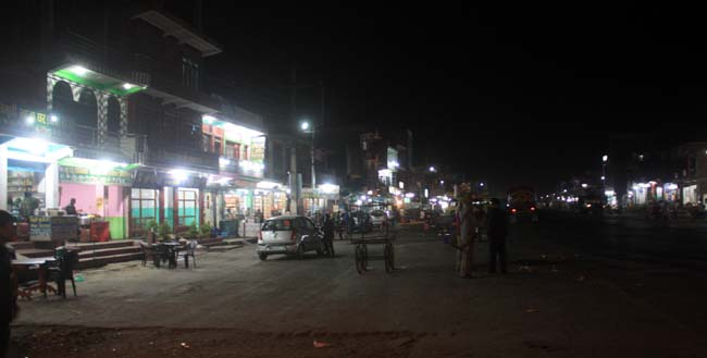 07 Night time in Mugling, Chitwan the city connects Kathmandu with Pokhara and other parts of Nepal