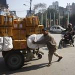 Cart Puller in New Road Kathmandu Nepal
