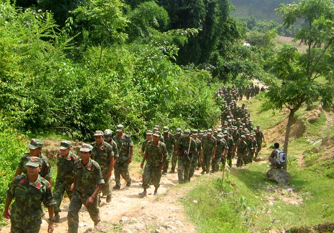 Maoist People's Leberation Army during their parade 1