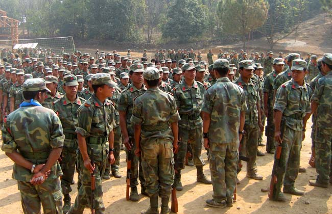 Maoist People's Leberation Army during their parade 2