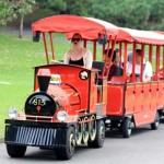 03 Small Trackless Train in Royal Botanic Garden Sydney right beside the Sydney Opera House