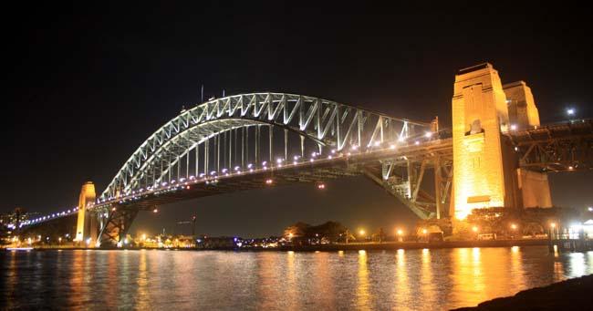 01 Sydney Harbour Bridge Australia in evening