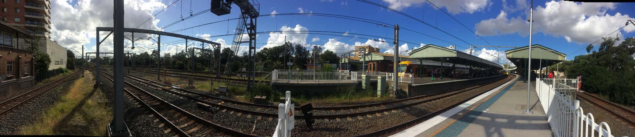 01 Sydney Railway Track Wide Shot Rail in Sydney Railways