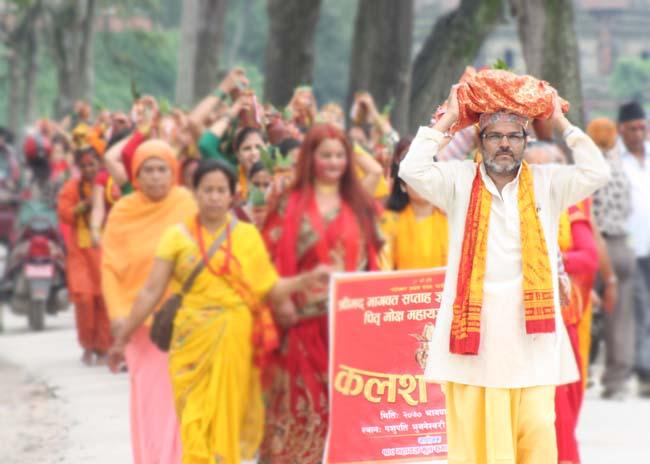 01 colourful Kalash Yatra being taken out in Kathmandu