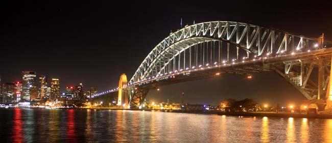 02 Sydney Harbour Bridge Australia in evening