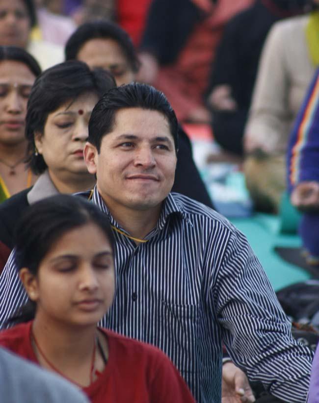 03 Rishi Dhamala Nepali Journalist participating in BABA Ramdev's Yog Shivir in KAthmandu
