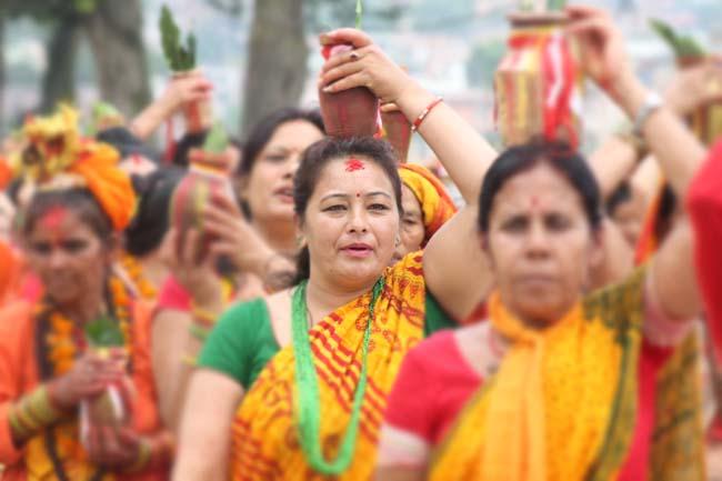 03 colourful Kalash Yatra being taken out in Kathmandu