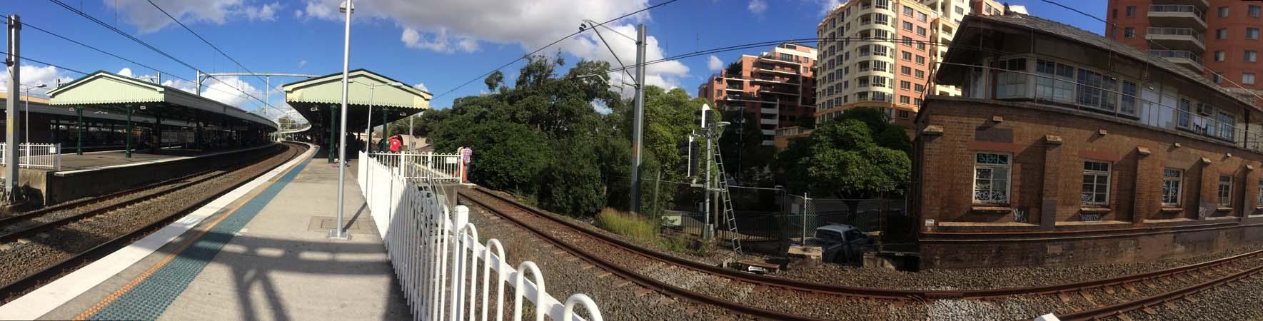 04 Sydney Railway Track Wide Shot Rail in Sydney Railways