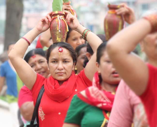 04 colourful Kalash Yatra being taken out in Kathmandu