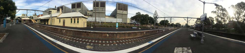 St Peters Train Station Sydney Australia 1 Panorama shot