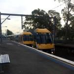 Sydney Train in St Peters Train Station Sydney Australia Slow Shutter Shot