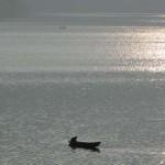 01 Boatman returning home after finishing boating job in Fewa Lake, Pokhara