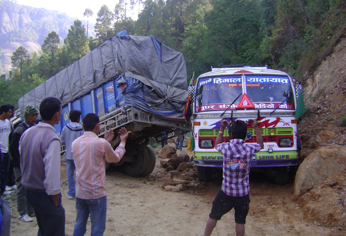 01 Rapti Highway near Rukum Poor highway