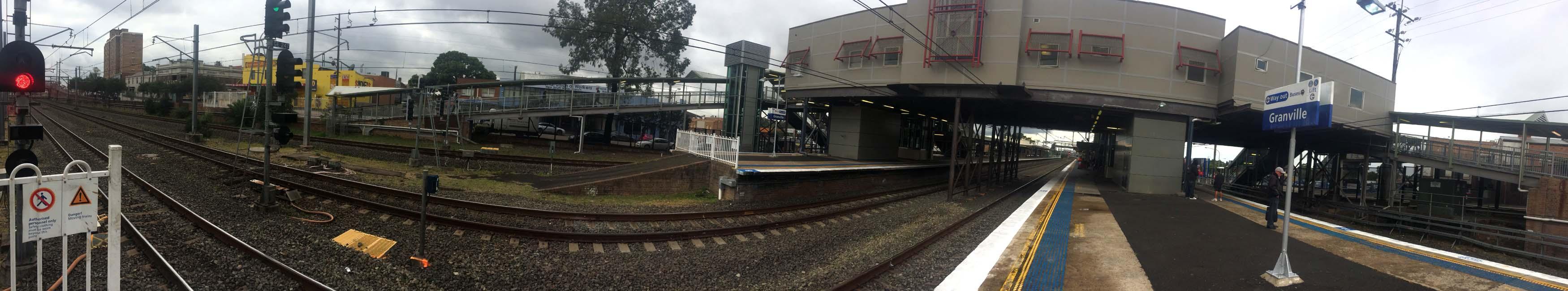 01 Sydney Trains Granville Station Train on Track