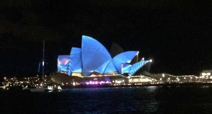 02 Opera House in different color during vivid light festival 2014 in Sydney Australia