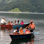 02People boating on Begnas Tal (Begnas Lake) Pokhara Kaski Nepal