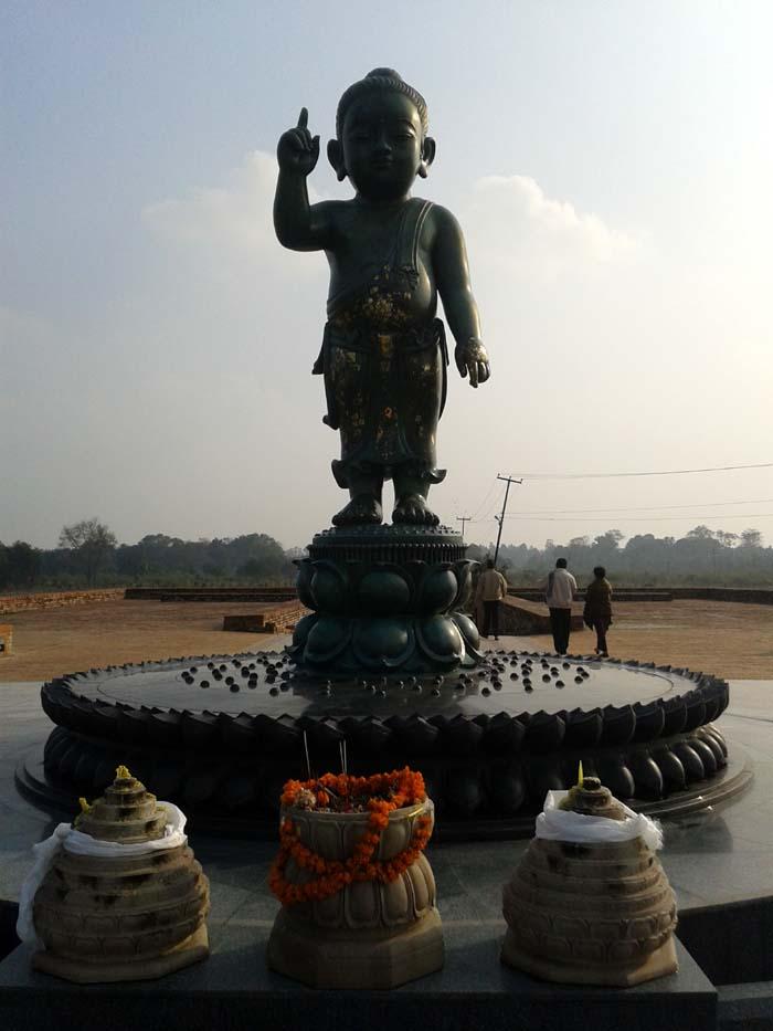 04 Baal Buddha statue of lord Buddha in Lumbini Nepal
