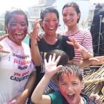 Holi celebration with colors in Kathmandu