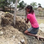 Nepali girl in action