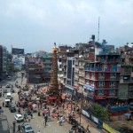People preparing chariot to celebrate traditional festival in Lalitpur