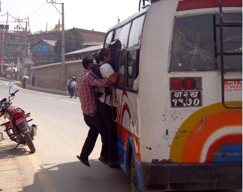 Public bus in Lalitpur 1