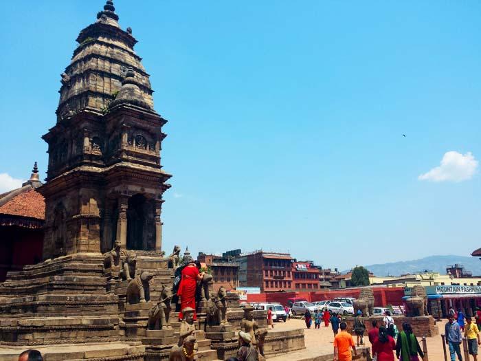 Temple in Bhaktapur darbar square