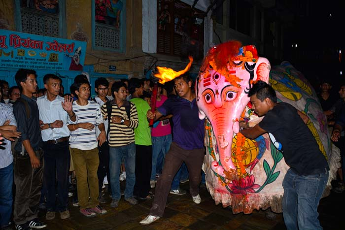 White Elephant Searching for king of Heaven Lord Indra