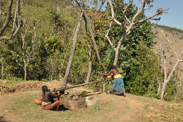 Women in Achham, Nepal producing cooking oil using traditional Oil Extraction method