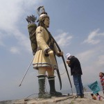first Kiranti King of Nepal Yalamber statue in Shanishchare Nepal