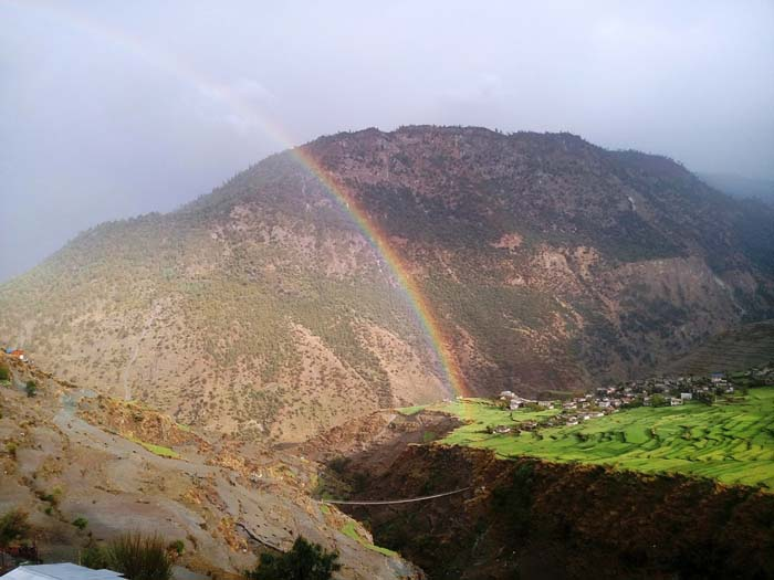 rainbow in Mugu Nepal